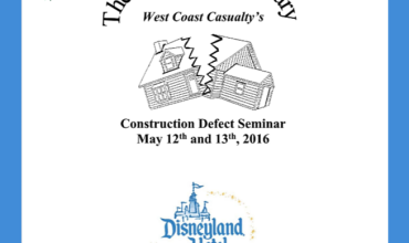 West Coast Casualty's 23rd Construction Defect Seminar